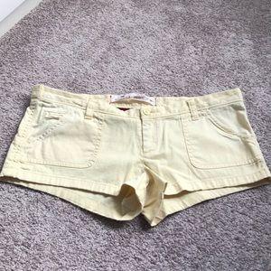 Hollister yellow shorts